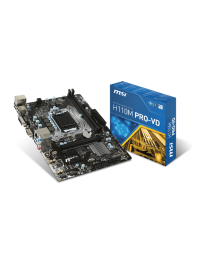 MSI Motherboard H110M Pro-VD Plus Core i3/i5/i7 H110 S1151 DDR4 32GB SATA PCI Express USB uATX Retail