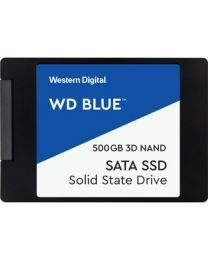 "WD Blue 3D NAND 500GB PC SSD - SATA III 6 Gb/s 2.5""/7mm Solid State Drive - 560 MB/s Maximum Read Transfer Rate - 5 Year Warranty"