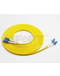 15M LC M/M OS1 YELLOW FIBER UPC SIMPLEX LSZH PATCH CABLE