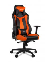 SUPERPREMIUM GAMNG CHAIR ORANGE ERGONOMIC XTRA WIDE&HIGH 4DARMRESTS