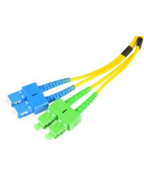 15M SC M/M OS1 YELLOW FIBER UPC DUPLEX LSZH PATCH CABLE